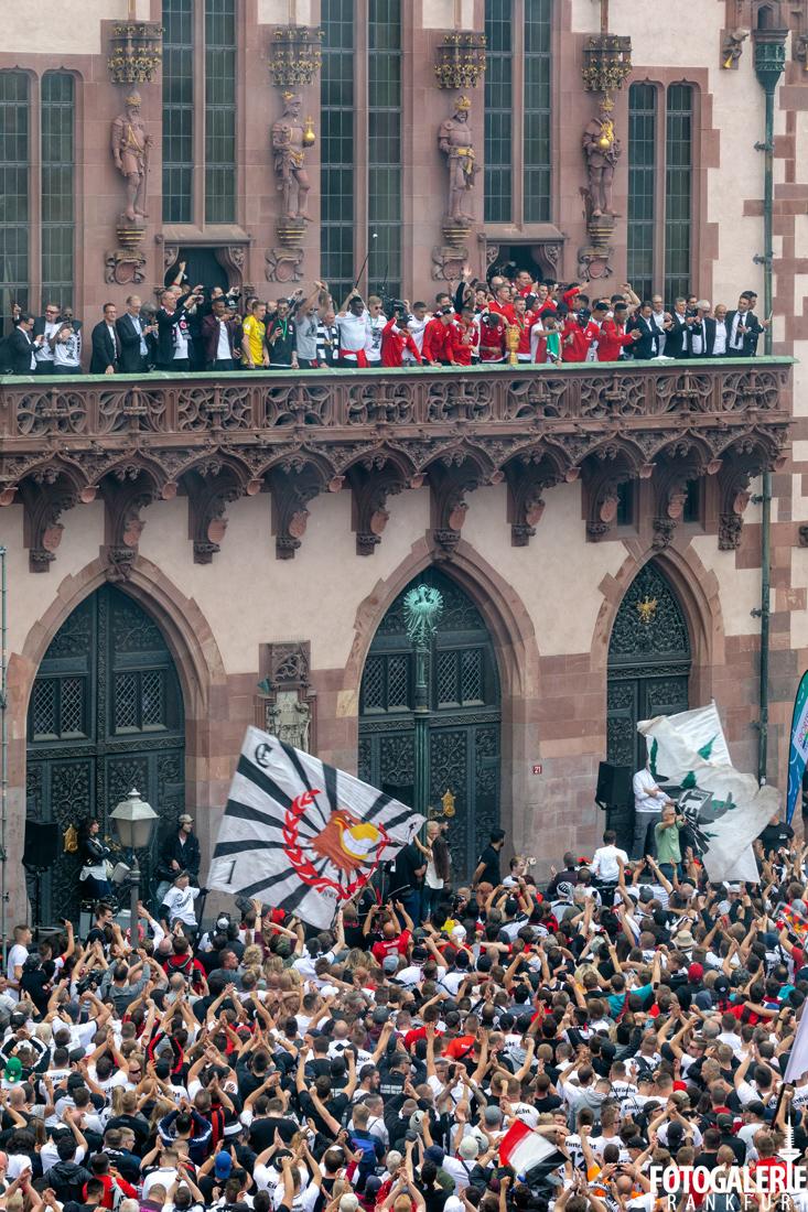 Pokalfeier Frankfurt