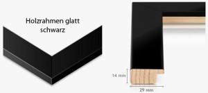 Holzrahmen glatt schwarz