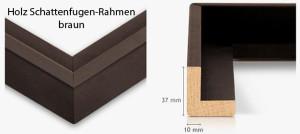 Holz-Schattenfugenrahmen braun