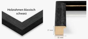 Holzrahmen klassisch schwarz