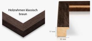 Holzrahmen klassisch braun