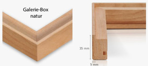 Galerie-Box naturbraun