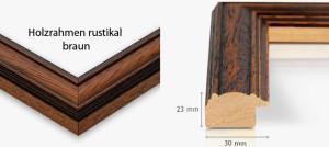 Holzrahmen rustikal braun