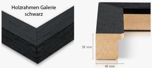 Holzrahmen Galerie schwarz