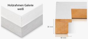 Holzrahmen Galerie weiß