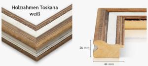 Holzrahmen Toskana weiß