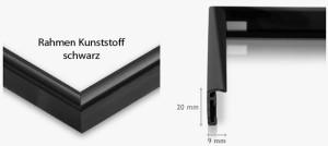 Kunststoffrahmen schwarz