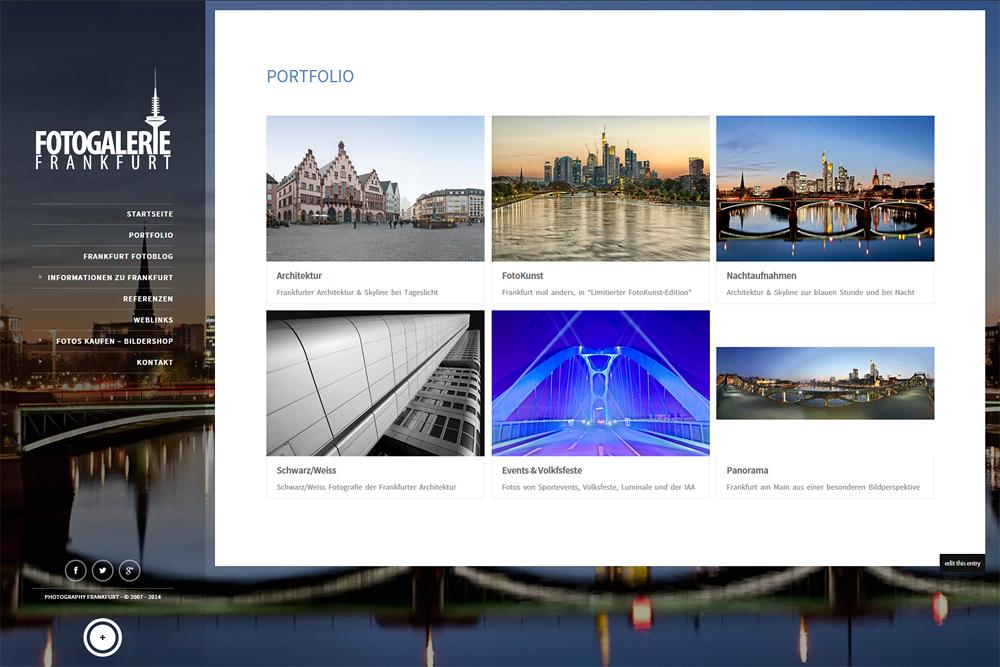 Neue Webseite Fotogalerie Frankfurt