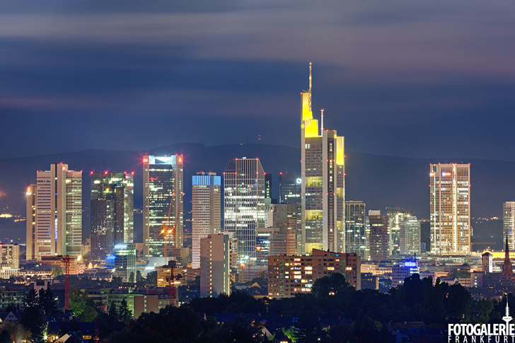 Blick auf Frankfurter Skyline