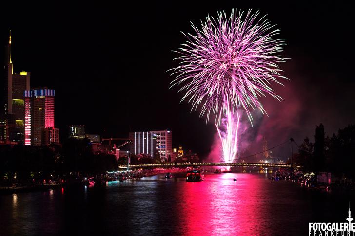 Feuerwerk Museumsuferfest Frankfurt 2016