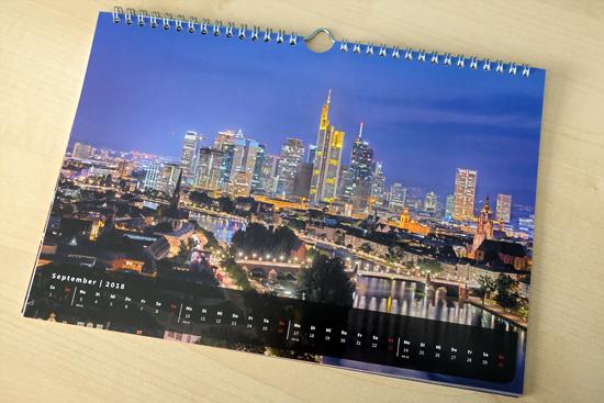 Wandkalender DIN A4 & A3 Frankfurt Deckblatt