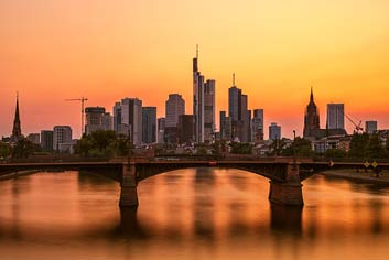 Frankfurt im Abendrot Portfolio