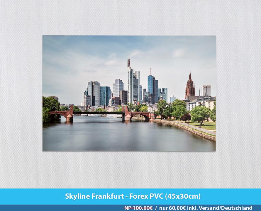 Bildershop Frankfurt - 011 Skyline Frankfurt Forex PVC