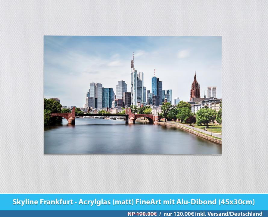 Bildershop Frankfurt - 009 Skyline Frankfurt Acrylglas (matt)