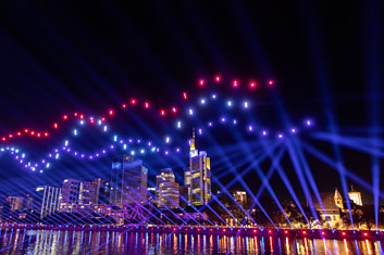 Sternenbilder Drohnenshow Frankfurt thumb