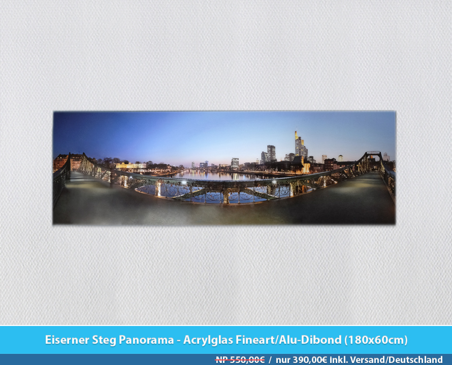 Bildershop Frankfurt - 007 Eiserner Steg Panorama