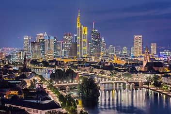 Frankfurt bei Nacht Portfolio